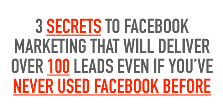 3 Secrets to Facebook Marketing